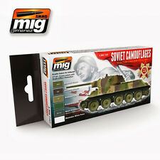 MIG PRODUCTIONS A.MIG7107 - SOVIET CAMOUFLAGE TANKS COLORS ACRYLIC PAINT SET