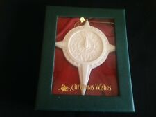 DEMDACO Christmas Wishes Porcelain Ornament WISDOM To Guide Your Path FAST SHIP