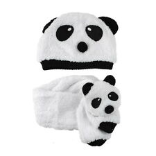 Cute Winter Wram Children Baby Kids Panda Hat Cap Beanie and Scarf One Sets UR