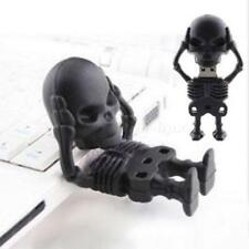 Black Skull Man High Speed 64GB USB2.0 Flash Memory Stick Pen Drive U Disk TMPS