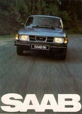 Saab 99 GL Saloon 1981-82 UK Market Sales Brochure 2-dr 4-dr