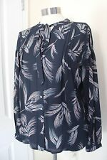 size 8 navy chiffon blouse from marks and spencer brand new