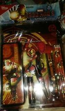 disney store Iron Man Art Kit School Supply Notebook pencils folder