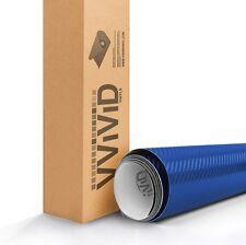 """10ft x 60"""" 3D Metallic Blue carbon fiber vinyl car wrap sheet roll film sticker"""