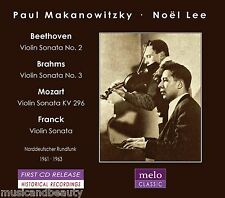 PAUL MAKANOWITZKY & NOËL LEE play Beethoven, Brahms, Mozart... VOL2  MELOCLASSIC