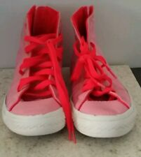 Converse All Star Back Zip Hi Pink/Hot Pink Color Size 2 Youth Sneakers