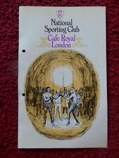 Boxe programme - 1980-cafe royal-wake/bois