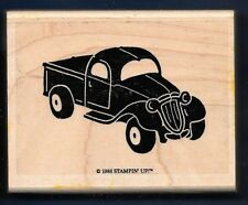 PICK-UP TRUCK Antique Style Decorative STAMPIN' UP! 1988 Large wood RUBBER STAMP