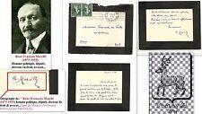 Lettre Guerre 1914 signée René MARCILLE Député (1873-1955) au Marquis DU FRETAY.