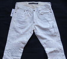 Ralph Lauren Black Labe CREAM Coated Motorcross Jeans Gr 30/32