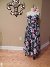 Vintage LAURA ASHLEY English Country FLORAL Garden Party Strapless SUNDRESS 8