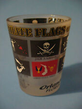 Liquor Shot Glass ~ Orlando, FLORIDA    PIRATE Flags of the 7 Seas ~ Skull Bones