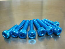 Fuel Cap Bolt Kit for Suzuki GSX 1300 R Hayabusa in blue anodised bolts