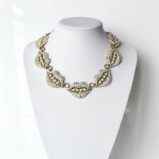 Fashion Jewelry Let's Bring Back by impromptu Frost Pearl Crystal Lips Necklace