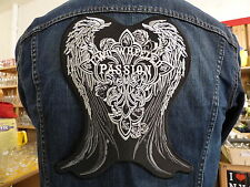 GRAND ECUSSON PATCH THERMOCOLLANT/ TWO WHEELED PASSION ailes biker hell fest usa