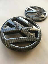 VW golf MK6 Carbon Fibre Black style Rear/front grille badge emblem 09-12 GTI