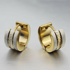 316L Stainless Steel Silver Gold Hoop Earring For Women Men Classic Gifts