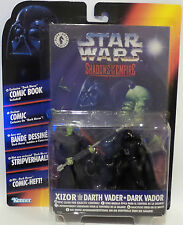 STAR WARS SHADOWS OF THE EMPIRE : DARTH VADER & XIZOR CARDED FIGURES(F)