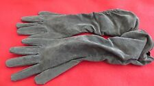 Lovely Pair Of Florence and Fred Green Long Ladies Leather Gloves - Size M / L