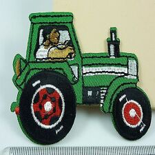 1pcs Embroidered Cloth Iron On Patch Sew Motif Applique The tractor Y22B