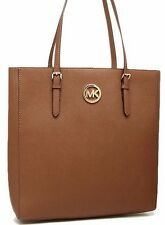 NEW MICHAEL KORS JET SET TRAVEL BROWN SAFFIANO LEATHER LARGE N/S TOTE BAG PURSE