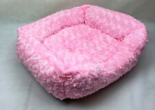 Small Dog Cat kitten Bed Pink ROSE FUR Luxury Chihuahua Puppy Yorkie
