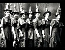 """+""""Halloween-""""The 7 Smiling Witch Ladies"""" /Classic/ ~Post Card~"""