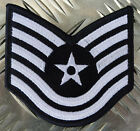Genuine US Air Force USAF Technical Sergeant Military Iron-on Badge Patch - NEW
