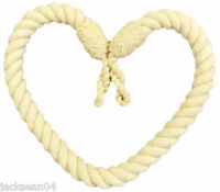 4 X PORTUMNA NATURAL CREAM LONG CORD ROPE CURTAIN DRAPE TIE BACK TIEBACKS 32""