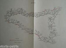 SICILIA_MAPPA TOPOGRAFICA_GEOLOGIA_COSTE_PORTI_MILITARIA_DECORATIVA_D'EPOCA