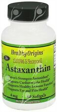 Healthy Origins, Astaxanthin, 4mg x60 Softgels;- SAME DAY DISPATCH BEFORE 2PM!!