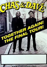 ORIGINAL CHAS & DAVE THE FINAL TOUR POSTER - CHAS AND DAVE