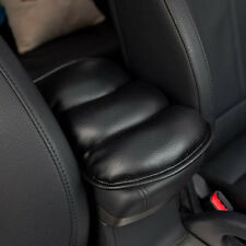 Auto Armrest Vehicle Black Memory Foam Soft PU-leather Cover Seat Box Cozy Pads