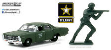 1:64 GreenLight *HOBBY EXCLUSIVE* US ARMY = 1967 Ford Custom w/SOLDIER FIGURE