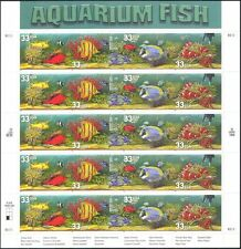 USA 1999 Aquarium Fish/Marine/Nature/Crabs/Snails/Coral 20v s/a sheet (b5905)