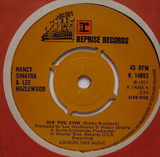 "NANCY SINATRA & LEE HAZLEWOOD - Did You Ever - Ex Con 7"" Single Reprise K 14093"