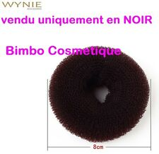 Bun Donut 8 CM NOIR Anneau Boudin Amplificateur de Chignon Cheveux Coiffure