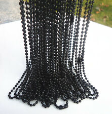 "LOTS of NEW 10PCS Hematite plated spherical metal necklace Finding 19 "" B"