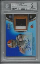 2012 Bowman Sterling Brandon Weeden Auto Patch 34/99 Rookie RC BGS 9