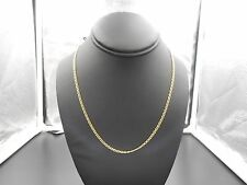 "18K Solid Gold Balestra Marine Link Necklace Chain, 18"" Long"
