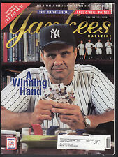 Joe Torre 1998 New York Yankees Magazine with Paul Oneill pullout poster
