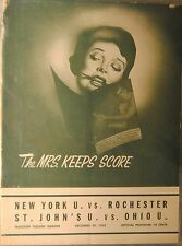 1945 St John's NYU Ohio U Rochester Madison Square Garden Basketball Program
