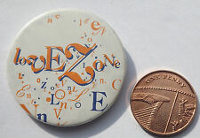 "LOVE ZONE Vtg 70`s/80`s Button Pin Badge(37mm-1.5"")MIS101"