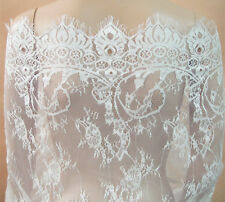 "Chantilly Bridal Lace Fabric 35"" Wide for Bridal Dress and accessories Veiling"