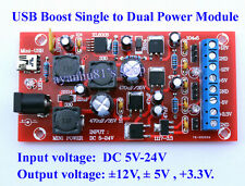 USB Boost DC 5-24V to dual power +12V,-12V +5V -5V +3.3V Linear Regulator Module