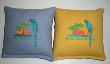 Embroidered Margaritaville Cornhole Bags - Set of 8 Quality Bags!  Nice Colors!