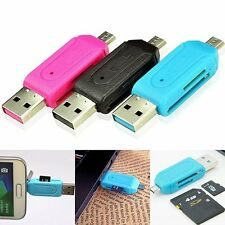 2-in-1 OTG SD Micro USB 2.0 T-Flash Memory Card Reader Adapter For Cell Phone&PC