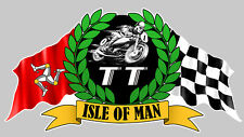 ISLE OF MAN TOURIST TROPHY ILE DE MAN STICKER RACING TRACK 140mmX75mm (IA068)