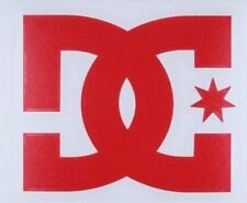 """One Authentic Red DC Shoes Logo Decal 4"""" Snowboard Skateboard TRANSFER STICKER"""