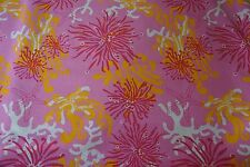 LEE JOFA Fabric LILLY PULITZER BIMINI HIBISCUS Pink Orange White Sold by Yard